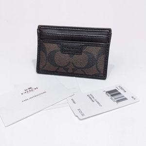 Coach Heritage Card Holder Slim Leather CC Case